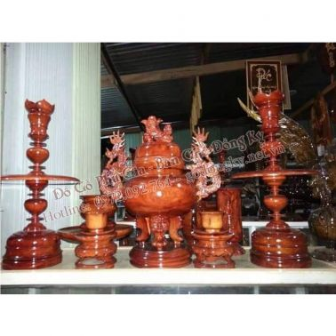 Bộ đồ thờ bằng gỗ hương