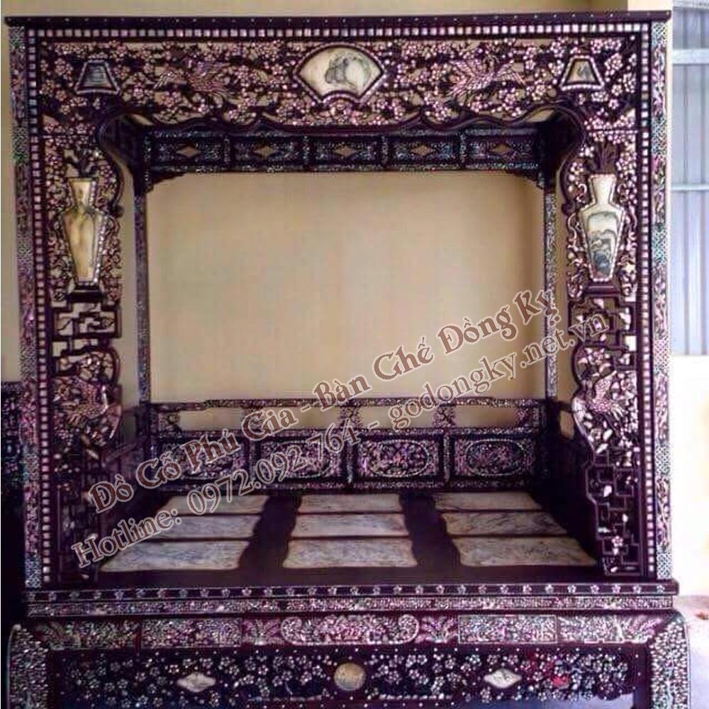 Giường kiểu giường công chúa kham trai ốc ( G30)