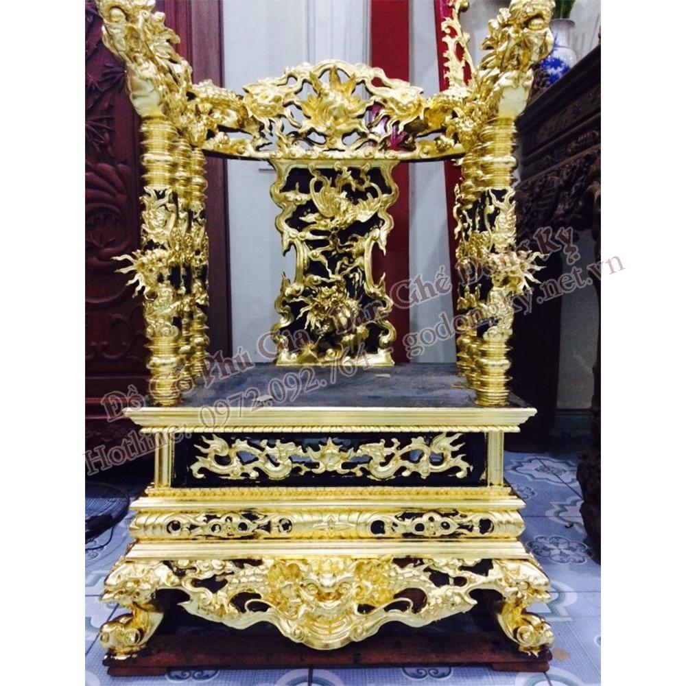 Ngai Thờ Sơn Son Thiếp Vàng Gỗ Gụ