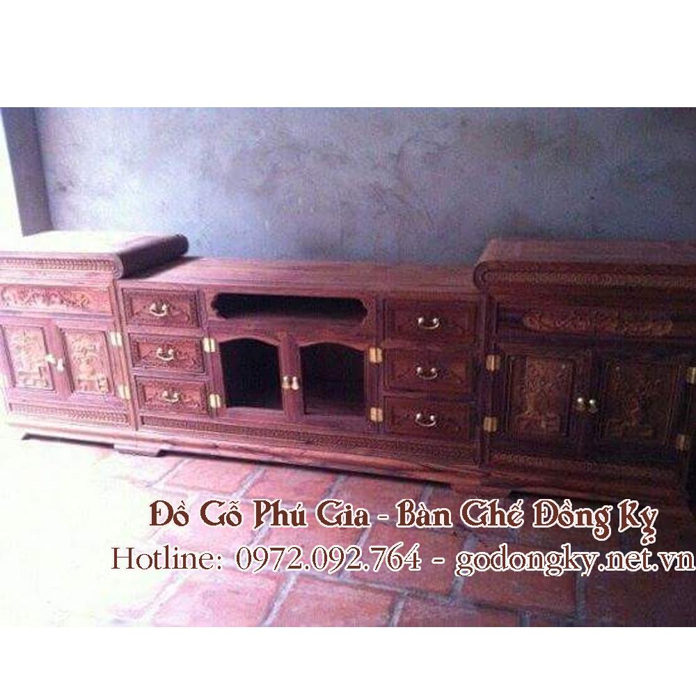 Kệ mõ kiểu tàu gỗ hương