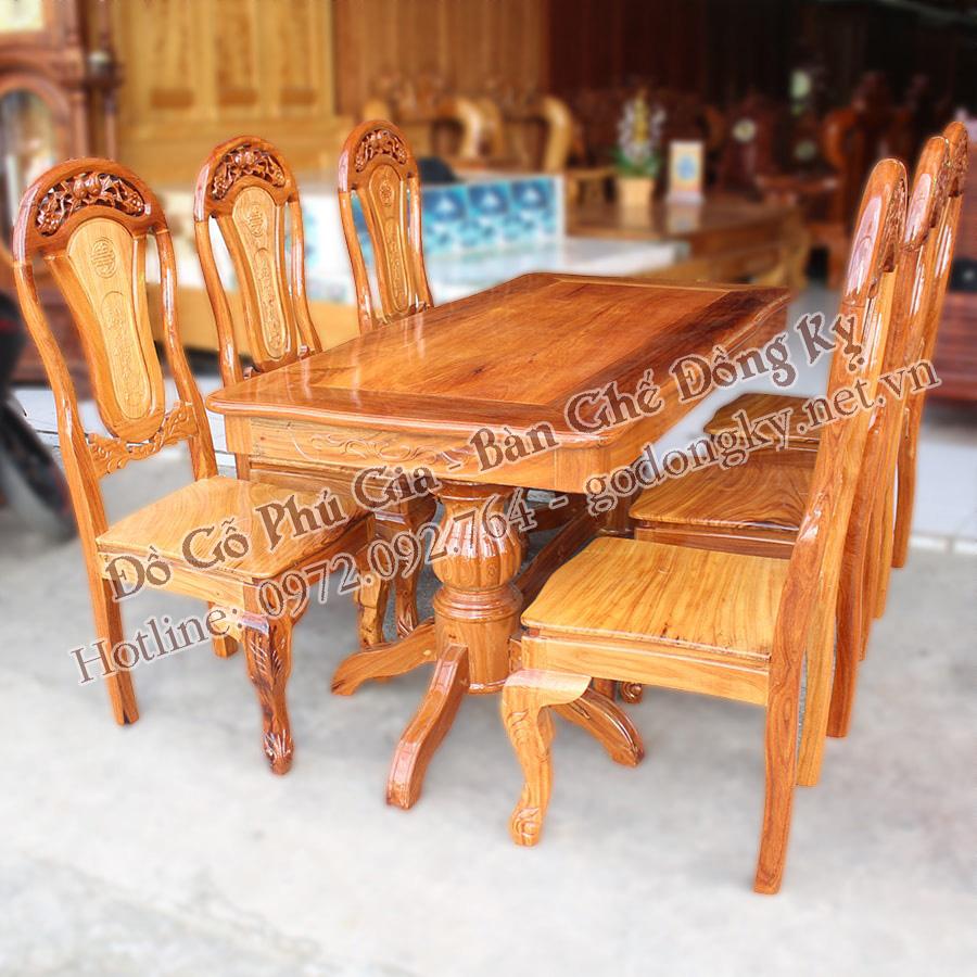 Bộ bàn ăn gỗ hương, gụ dưới 30 triệu