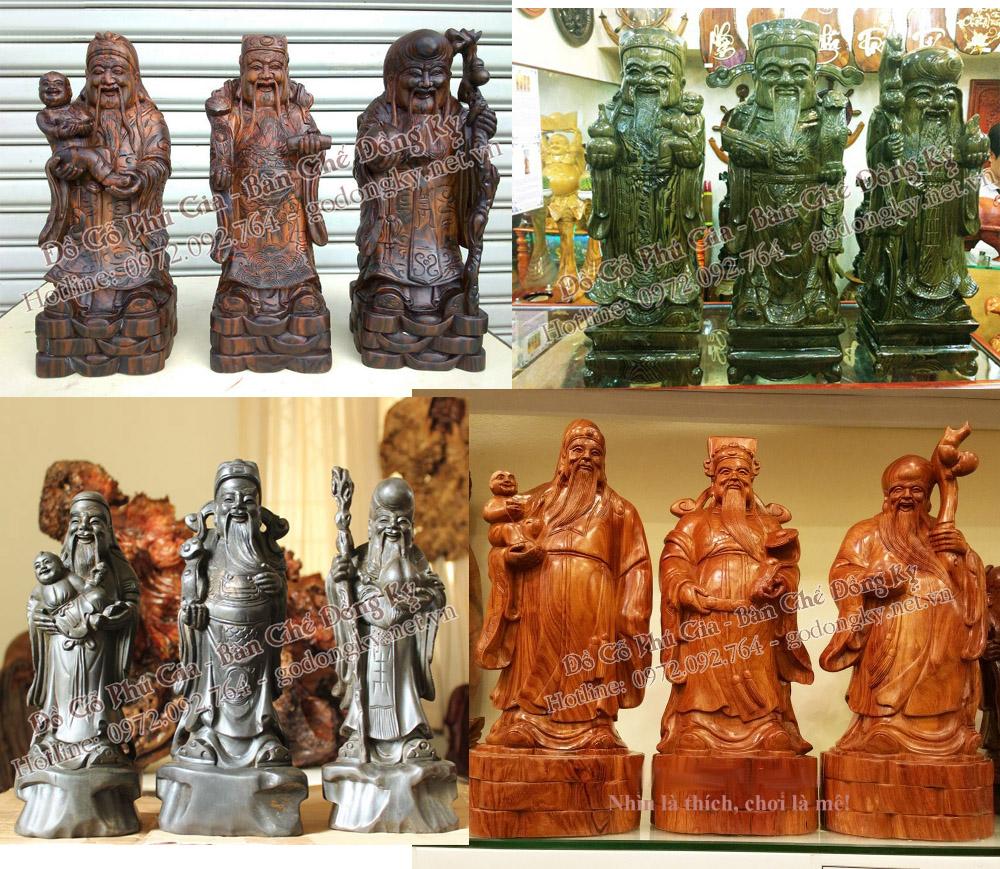 12 loại gỗ tạo nên tượng Phúc ,Lộc , Thọ đẹp