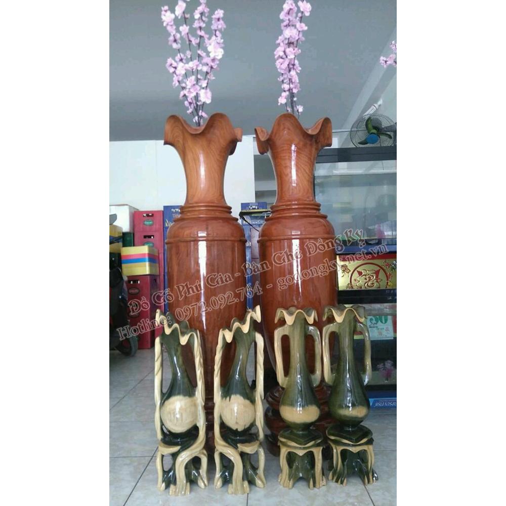 Đôi lộc bình gỗ hương