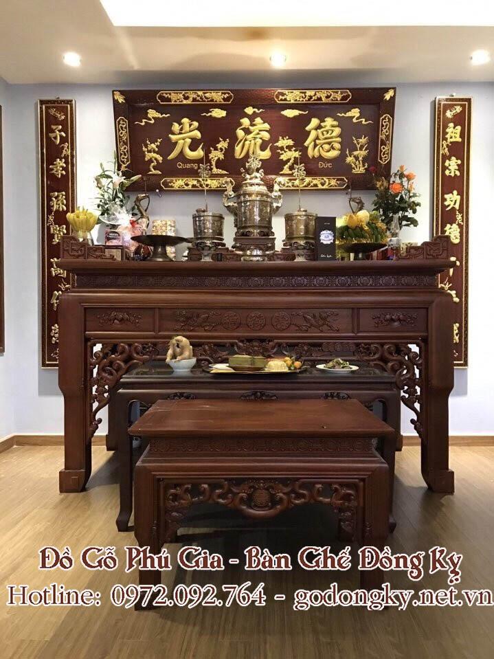 án gian thờ gỗ hương