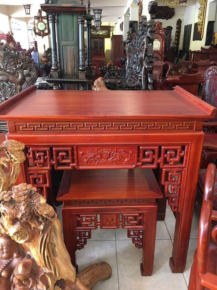 bàn thờ án gian gỗ hương