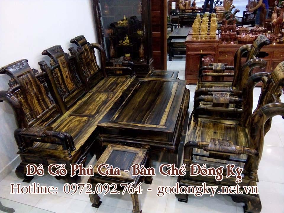 bàn ghế đồng kỵ gỗ mun