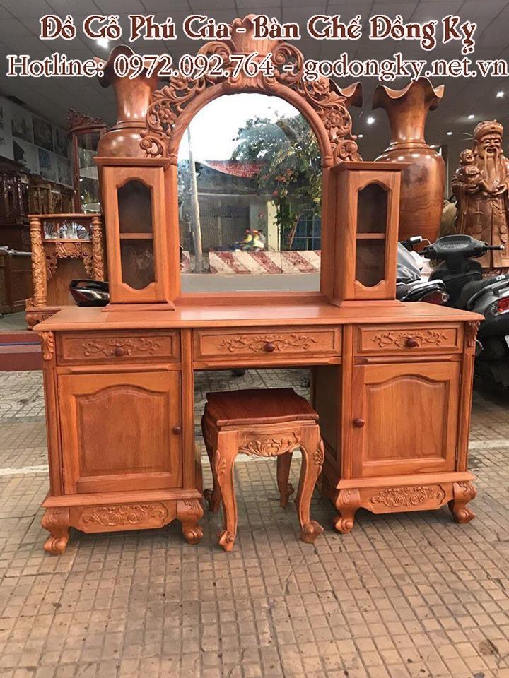 bàn trang điểm gỗ hương gỗ gụ