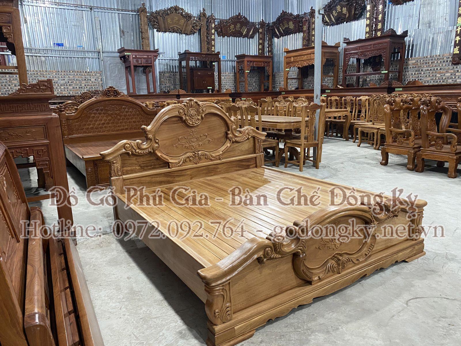 giường ngủ đồ gỗ đồng kỵ 18
