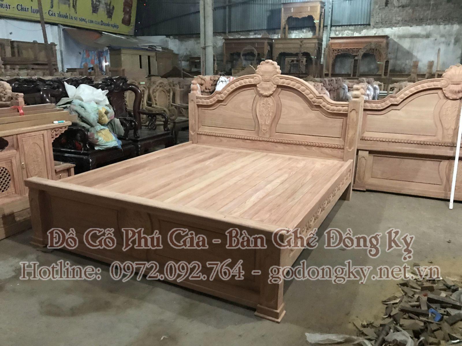 giường ngủ đồ gỗ đồng kỵ 19