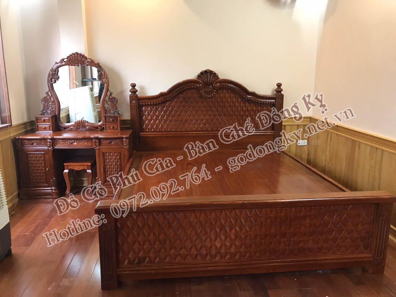 giường ngủ đồ gỗ đồng kỵ 21