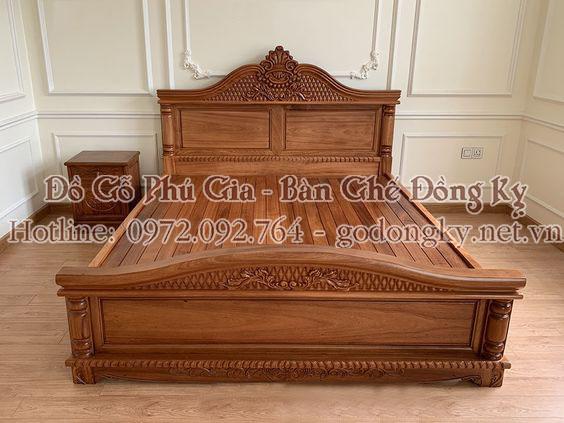 giường ngủ đồ gỗ đồng kỵ 6