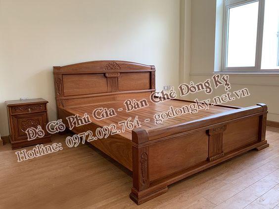 giường ngủ đồ gỗ đồng kỵ 7