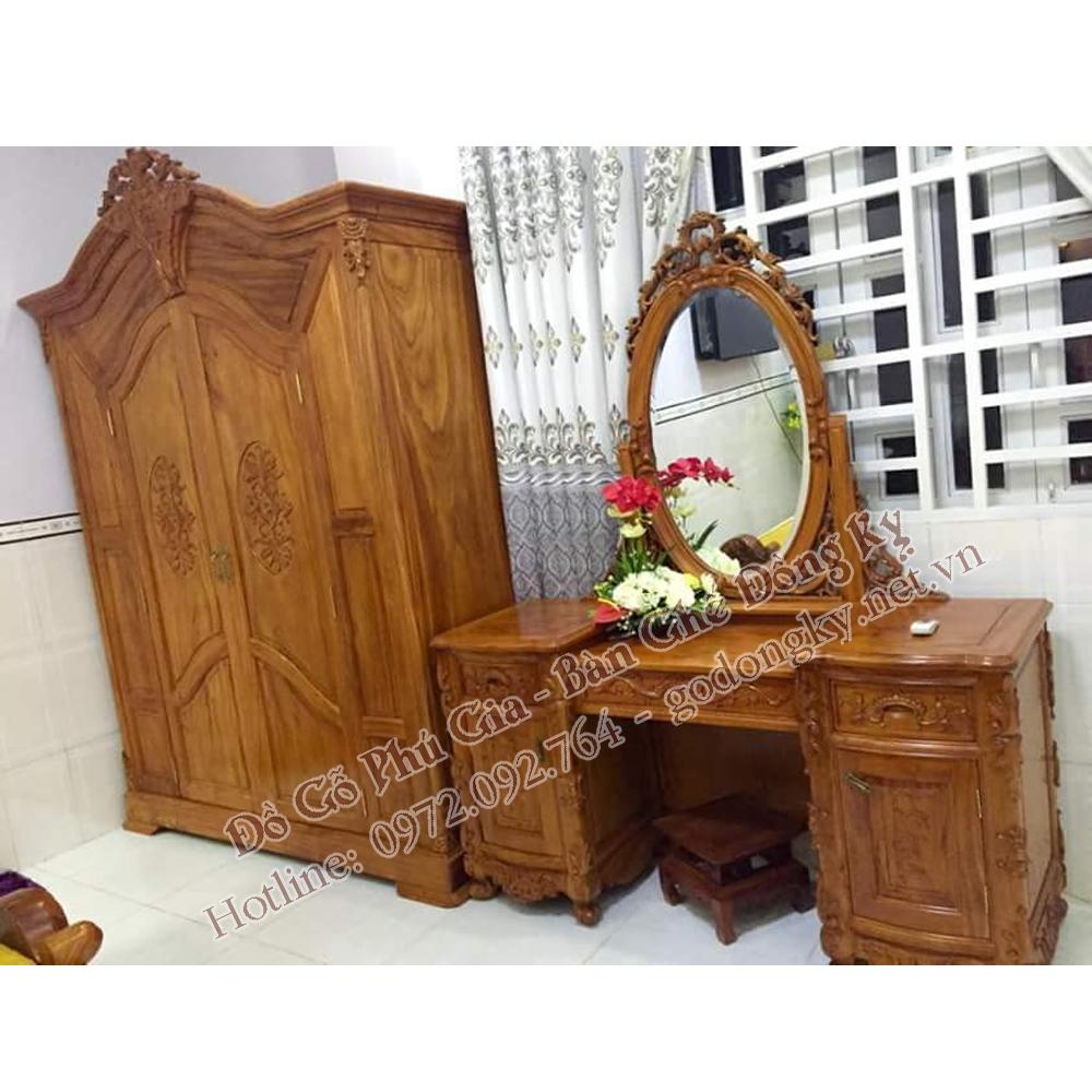 bàn phấn gỗ hương