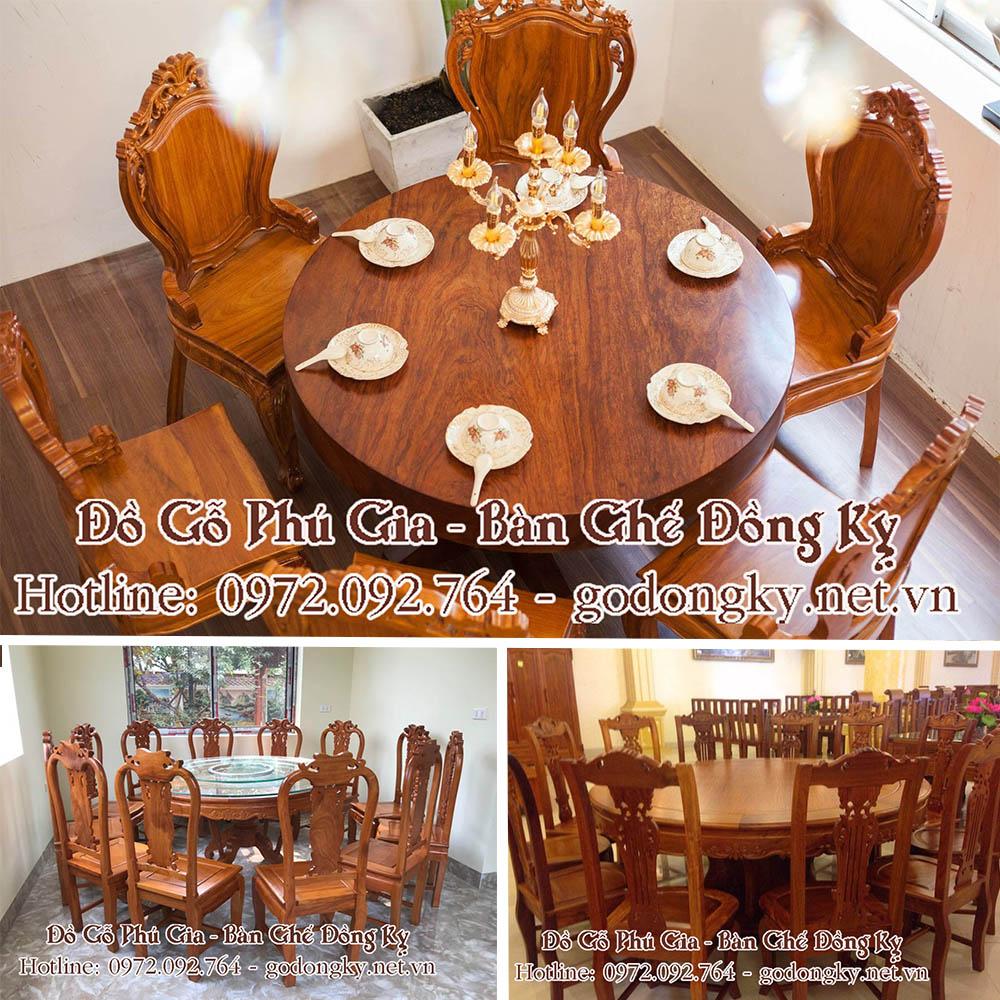 bàn ăn đồ gỗ đồng kỵ