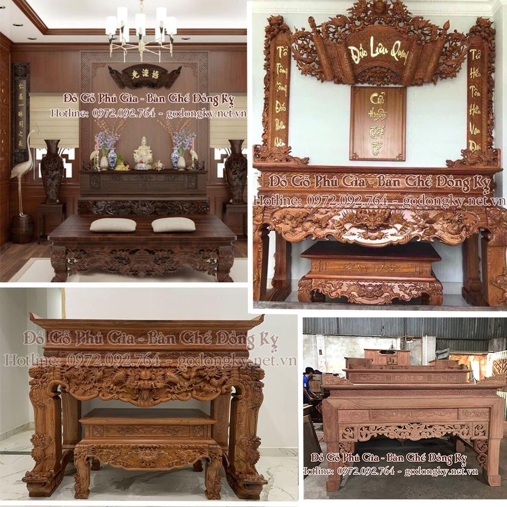 bàn thờ đồ gỗ đồng kỵ
