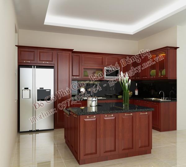 tủ bếp gỗ hương