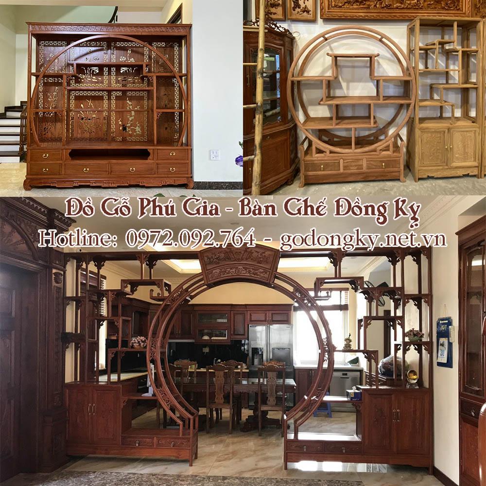 tủ trang trí đồ gỗ đồng kỵ